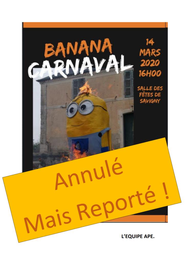 Annulation carnaval de l'APE