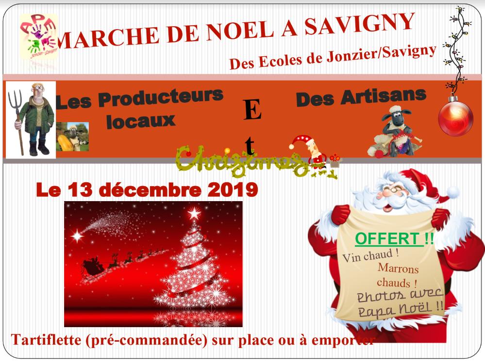 Marché de Noël APE Jonzier Savigny