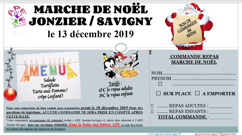 Inscription marché de Noël APE Jonzier Savigny