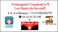 Fromagerie les Hauts de Savoies